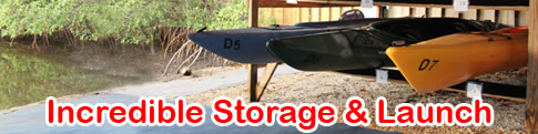 kayak storage and launch in naples florida bonita springs fort myers