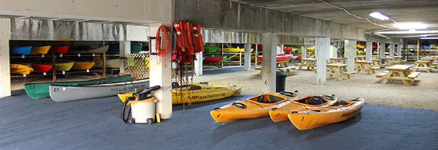 kayak paddleboard storage