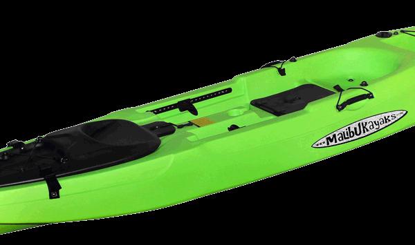 X-Caliber-Fishing-Kayak-Lime-Angle-View