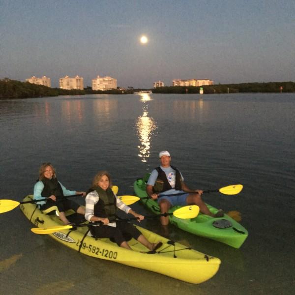 Full moon kayak tour Naples FL